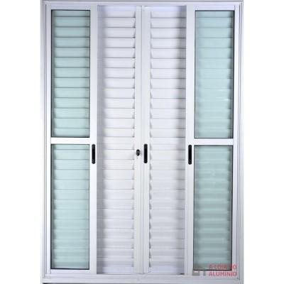 porta balcao 6-folhas branco linha design